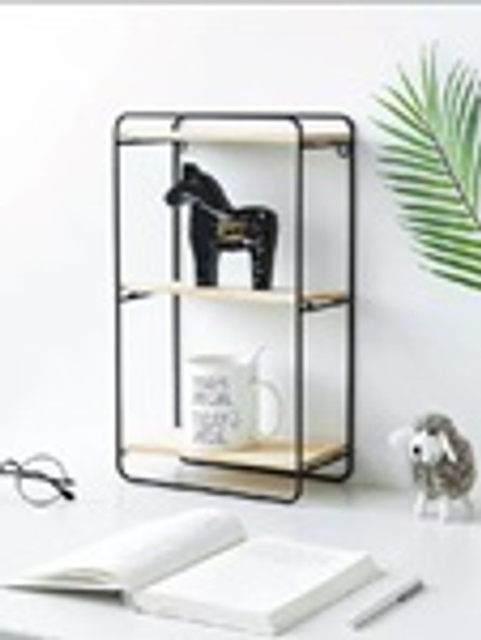 AC004S-B 3 Tier Shelves Black