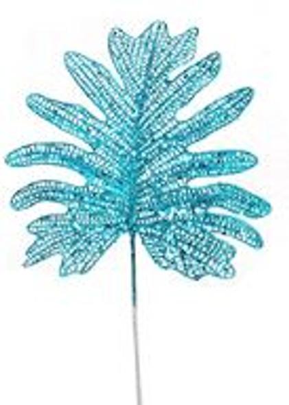 SEM4323B GLITT. PALM SPRAY PICKS- BLUE