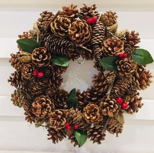 JHF1810-076 18ACX101 Pinecone Wreath 14in