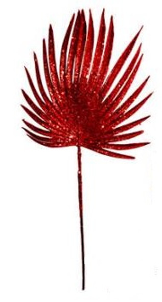 SEM4613R CHRISTMAS FAN LEAF SPRAY - RED