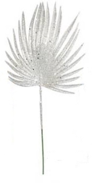SEM4613S CHRISTMAS FAN LEAF SPRAY - SILVER