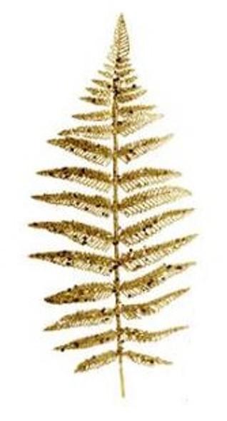 SEM4477G CHRISTMAS FERN SPRAY PICKS - GOLD
