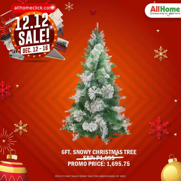 RHM1707-1906-156 6ft Snowy Christmas Tree