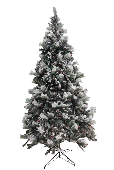 RHM1707-1906-154 10ft. Snowy Christmas Tree with Berries