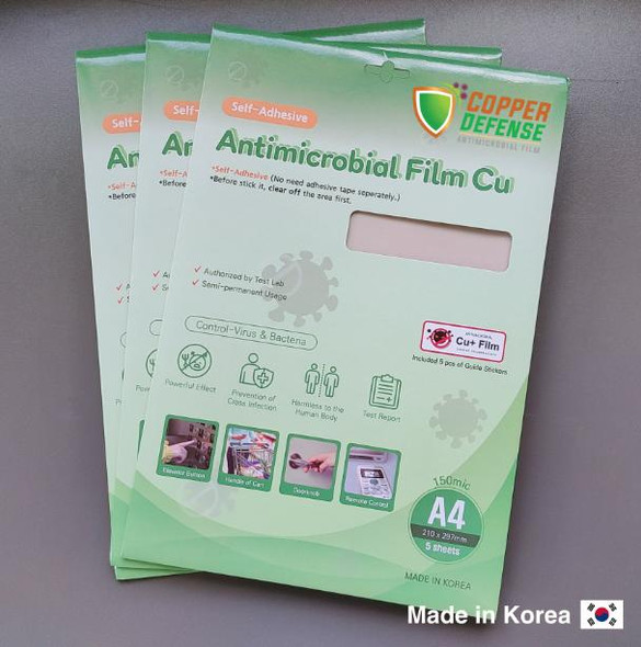 Copper Defense Anti-Microbial Film A4 size Adhesive 5sheets