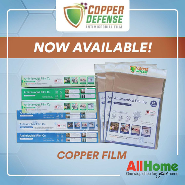 Copper Defense ANTI-MICROBIAL FILM 40cm x 5M roll Non-Adhesive