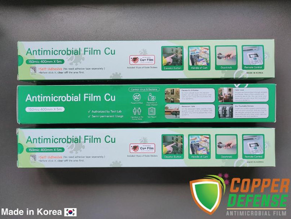COPPER DEFENSE ANTIMICROBIAL FILM 40cm x 5M roll Adhesive Type