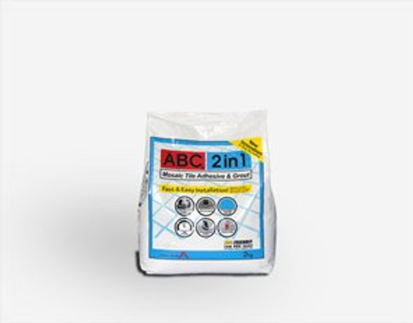 MOSAIC TILE ADHESIVE & GROUT 2-IN-1 2KG WHITE