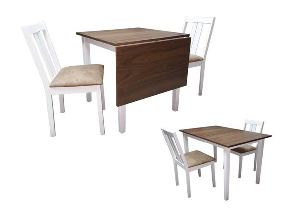 AMEDFORD II 2 SEATER EXTENDABLE DINING SET