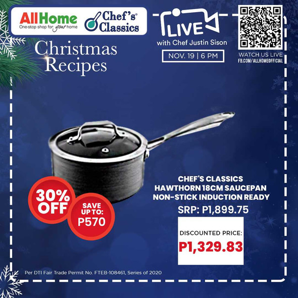 Chef's Classics Hawthorn 18cm Saucepan Non-Stick induction Ready