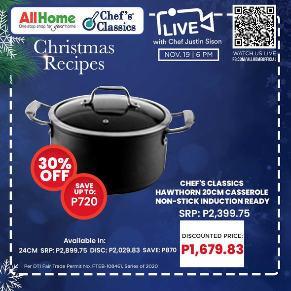 Chef's Classics Hawthorn 20cm Casserole Non-Stick induction Ready