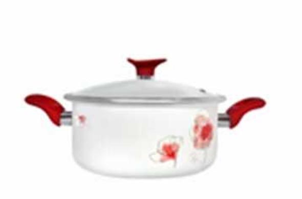 Chef's Classics Poppies Sauce Pot 20cm Enamel