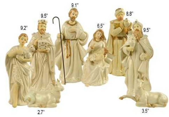 DYL1109A PORCELAIN NATIVITY SET