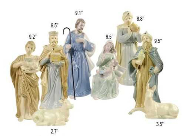 DYL1109B PORCELAIN NATIVITY SET