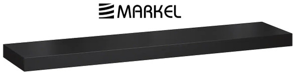 MARKEL WOODEN SHELF LARGE BLACK 1200X200X25MM