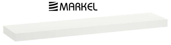 MARKEL WOODEN SHELF LARGE WHITE 1200X200X25MM