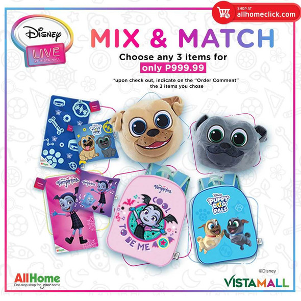 Mix & Match (Choose any 3 Disney items for P999.00)