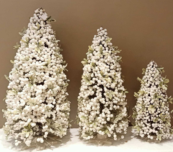 JHF1810-034 H6-01653F White Berries Christmas Tree 80CM
