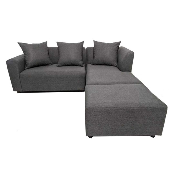 NIVORY L-TYPE SOFA W/ OTTOMAN IN FABRIC