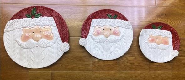 """RHM1906-002 1512-2 Ceramic Santa Face Plate 8"""""""