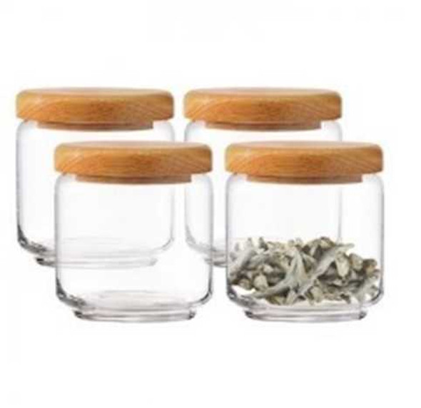 OCEAN POP JAR WOOD COVER 500 ML