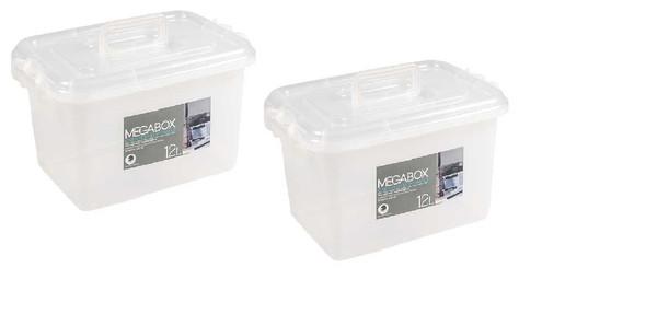 MEGABOX 12L STORAGE BOX CLEAR