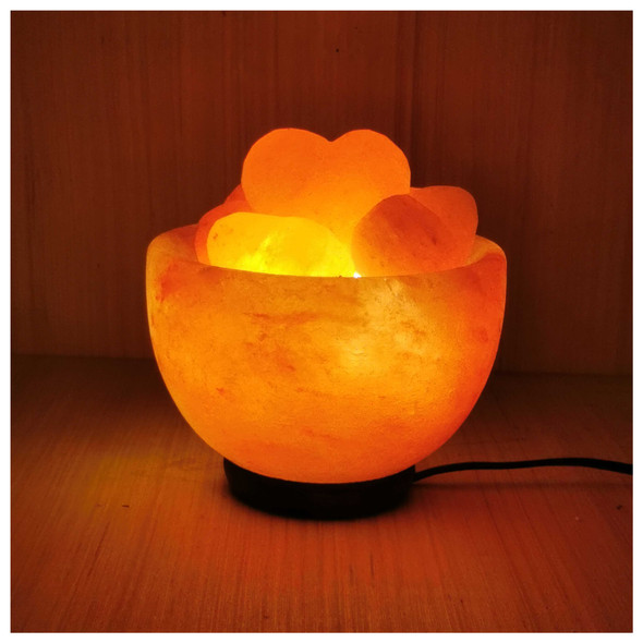Himalayan Salts Lamp Bowl Heart