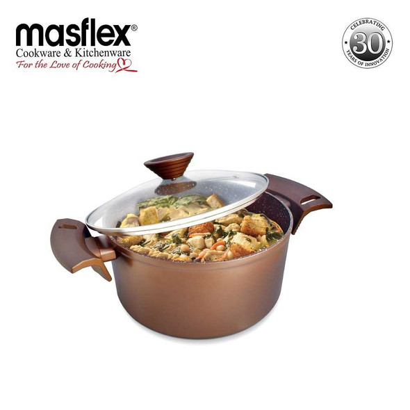 NZ-M6 24cm Elegance Induction Casserole with Glass Lid