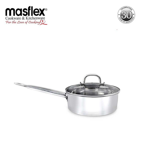 SS-24FP 24CM SUPREME STAINLESS STEEL FRYPAN W GLASS LID