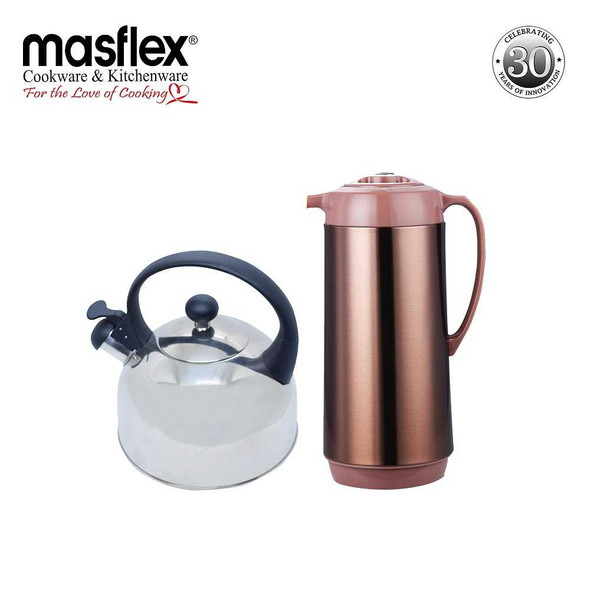 JH20/2.5L Induction Whistling Kettle+FHM10 1.9L Vacuum Flask  SATIN Finish