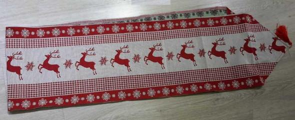 RHM1707-125 6 Seater Table Runner Reindeer Design