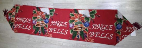 RHM1707-140 8 Seater Table Runner Jingle Bells Design