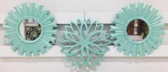 Decorative Mirror Set of 3- 25cm CFII1810-035 KM3073 Pastel Green