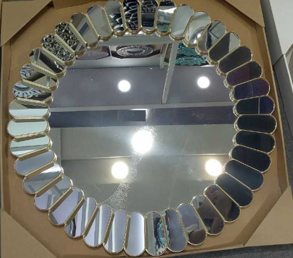 CFII1810-043 KM437 Gold  Decorative Mirror 60.5cm