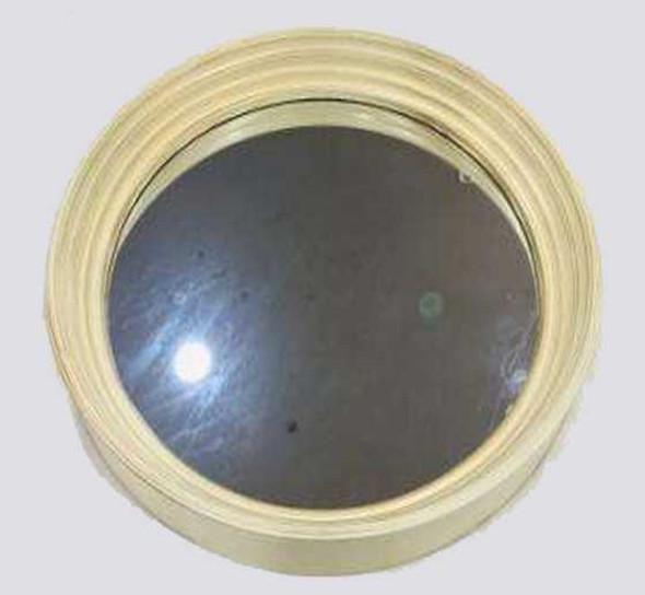 CFII1810-044 KM721 Round Cream Brushed Gold  Decorative Mirror 60.5cm