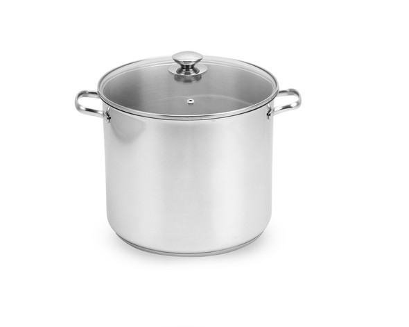 Stainless Steel Stockpot with Glass Cover