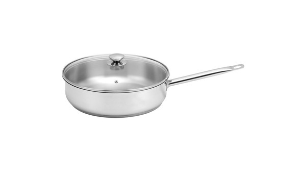 SSI-300-01 30X8CM SAUTE PAN WITH GLASS COVERED