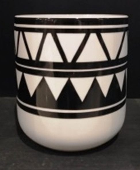 ELM JHF1804-038B 17D097W Ceramic Vase with Tribal Design