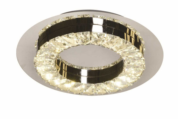 ADOLPH CRYSTAL LOW CEILING LAMP ROUND