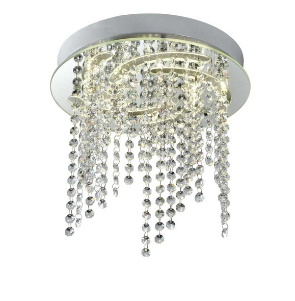 BRITT CRYSTAL LOW CEILING LAMP ROUND