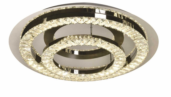 CARINE CRYSTAL LOW CEILING LAMP ROUND