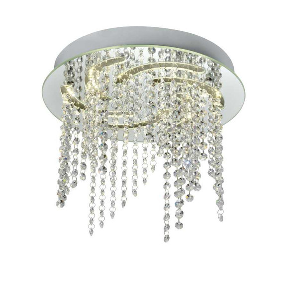 EIRA CRYSTAL LOW CEILING LAMP ROUND