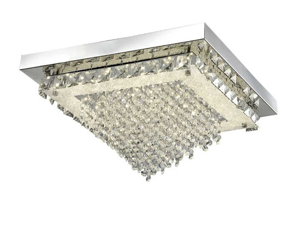 FABIAN CRYSTAL LOW CEILING LAMP SQUARE