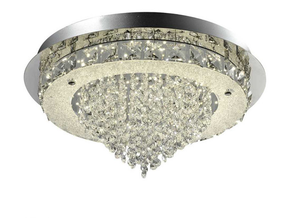 HELENA CRYSTAL LOW CEILING LAMP ROUND
