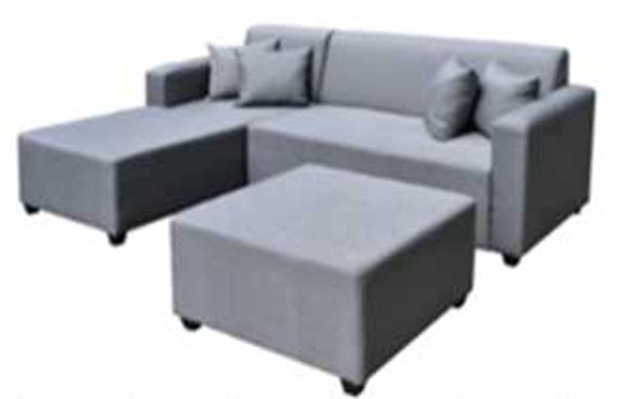 AQUITA L-TYPE SOFA W/ OTTOMAN IN FABRIC