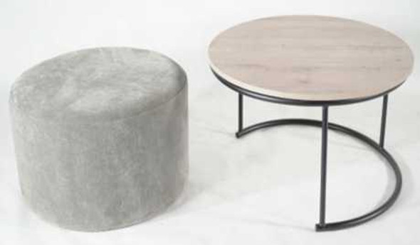 NOURA COFFEE TABLE WITH OTTOMAN