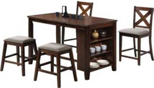MYST 1TABLE 2CHAIR 2STOOL BREAKFAST BAR SET