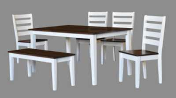 MORTI 1TABLE 4CHAIR 1BENCH DINING SET