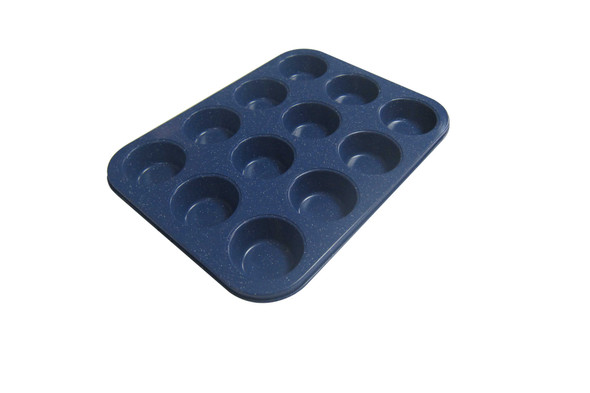 SLV3001 12CUP MUFFIN MARBLE COATING BLUE SERIES
