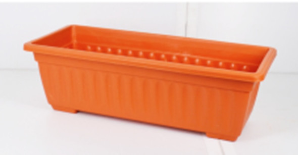 RP8003 TERRA COTTA RECTANGULAR PLASTIC PLANTER
